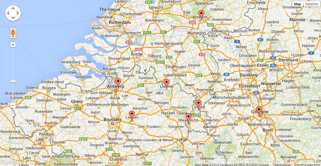 Heloohaloo 114 Luxe Kaart Zuid Nederland Belgie